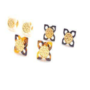 Tory Burch Resin Flower Earrings